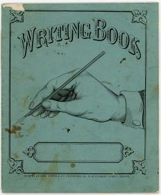 Writing Book, An Accounting Book, Ledger for Purchase of Brewster Farm, an apple farm and resulting operation of the farm near Portsmouth NH, 1870-1880. Cutter Tower & Co..Boston, MA.