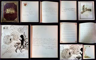 Ida E. Williams Hoff Album, A Friendship Album Belonging to Ida Williams. .Candor, NY.1876-1880