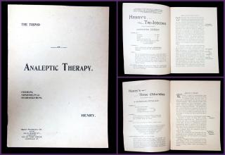 The Tripod of Analeptic Therapy . Henry Pharmacal Co..Louisville, KY.[1905]