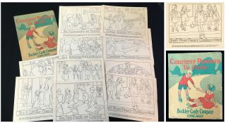 Unused Set of Courtesy Posters To Color. Beckley-Cardy Co., Set 562.Chicago, IL.1929