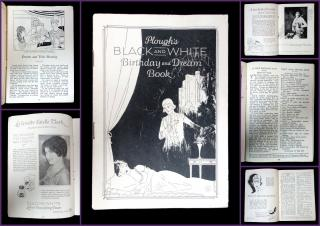 Plough's Black and White Birthday and Dream Book. Plough Chemical Company.Memphis, TN.1927