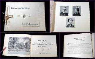 Various Promotional Brochure -History  Blairsville College for Women from 1851-1901 - . .Blairsville , PA.1901