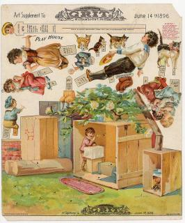Art Supplement - Play House. Pennsylvania Grit.Williamsport, PA .1896