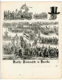 Lettersheet with an Engraving of the German Peace Festival . ..[1871]