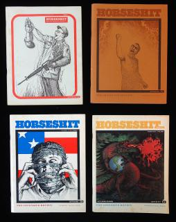 Robert and Thomas Dunker Horseshit, the Offensive Review: A Collection of Four Magazines. Scum Publishing Company.Hermosa Beach, CA.1965-1969