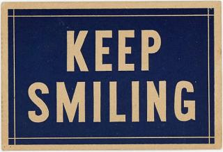 Charles B. Dickinson Business Card - Keep Smiling Card promotes Chiropractor. .Columbus Ohio.1916