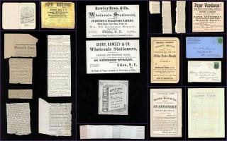 An Archive of Ephemera of the Rowley Brothers Wholesale Stationers