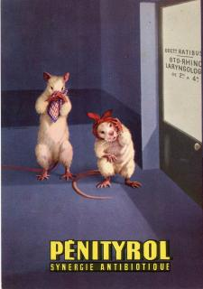 Penityrol Synergie Antibiotique, Patent Medicine Advertising Postcard. .Paris, France.19694