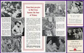 Red Cross Promotional Brochure - 10,000 Women needed now for the service that must not fail!. ..