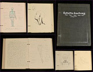 Marjorie E Bullock Artistic Anatomy, Drawings and Notes Penned by Marjorie E. Bullock. .Missoula, MN.c1920-1923