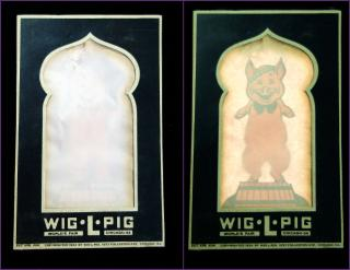Movable Wiggling Pig, 1934 Chicago's World Fair. Wig-L-Rol.Chicago.1934