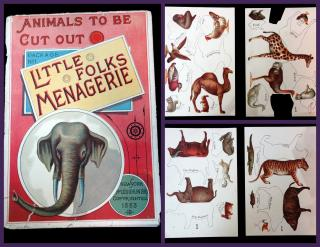 Little Folks Menagerie: Animals to be Cut out, Package No 1. McLoughlin Brothers.New York.1883