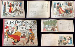 Robert Browning The Pied Piper of Hamelin. Ernest Nister and E. P. Dutton & Co..London and New York.[1906]