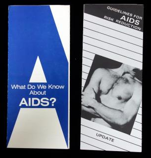 "2 Pamphlets - ""What Do We Know About AIDS?"" and ""Guidelines for AIDS Risk Reduction - Update"". AIDS Action Committee.Boston, MA.[1985]"