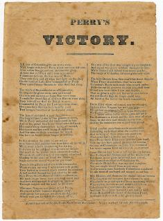 Perry's Victory, Broadside Poem . .No. 42, North Main, Providence, RI.[1815]