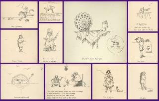 A.E.F.F. A Series of 10 Original Whimsical Verses with Pen & Ink Illustrations. ..[1930s]