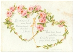 Interlocked Rose Chain Hearts With Love Poems, 1893