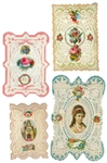 4 Valentines Depicting Love, Hope, Friendship, Health