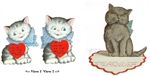 "Two Novelty Cat Valentines-  Each with ""Fur"" Pun in Verses"