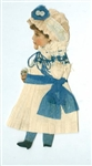 Handmade - Cut Out Paper Doll Dressed in Crepe Paper - Fanciful in Pink No. 2