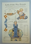 Military Movable Rocking Paper Doll - Little Folk's Play Friends, LHJ, Uncle Sam's Figherts 1919