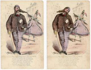 Pompous Bobbing Head Gent, doing the grand stroll - the subject of ridicule. R. Canton.London.