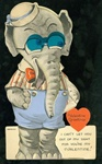 Sharp Dressed  Movable Elephant Valentine