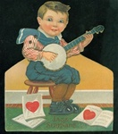 Valentine -Boy Strumming His Banjo