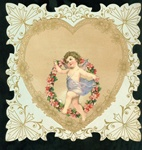 Cupid Skipping with Garland of Flowers