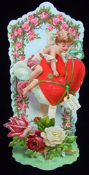 Cupid Playing the Heart with Broken Arrow