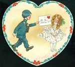 Tuck - Soldier Giving His Sweetie a Valentine Card