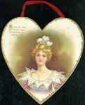 Heart Shaped Hanging Valentine  Young Women Enduring Love