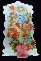 Pink Honeycomb, Girl Sitting on a Heart, Roses, Dove and lots of Flowers