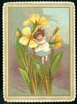Ward - Small Girl Holding onto Big Yellow Flowers Blowing in the Wind