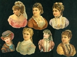 7 Gild Enhanced Embossed Victorian Scraps of - Women of Means & Taste