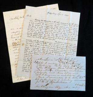 Col. John Henry McClellan & James Cooper   A Trio of Correspondence Relating to Whig Politics in Pennsylvania. .Gettysburg, PA.1843-1848