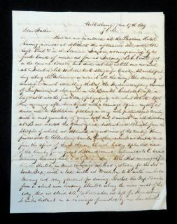 Jeremiah Bonsall Letter From Jeremiah Bonsall to his Father regarding his travels in Pennsylvania . .Wilkes-Barre, PA.June 17, 1849
