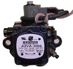 8.700-758.0 Suntec Fuel Oil Pump A2VA-3006 with 12 Volt Fuel Solenoid Shut Off Valve, 3 GPH, 3450 RPM, Right Hand Rotation