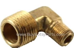 1/2 MPT x 3/8 MPT Brass Reducer Elbow 8.705-172.0