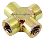 "1/2"" FPT Steel Cross Four Way Pipe Connector 8.705-420.0"