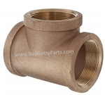 "3/4"" FPT Brass Pipe Tee 8.706-846.0"