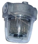 8.709-153.0 Diesel Oil Fuel Filter for Hotsy Hot Water Pressure Washers, Clear Bowl and Aluminum Housing
