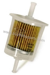 8.709-943.0 Inline Plastic Disposable Gasoline Fuel Filter, 3/8 MPT