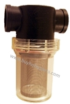 "3/4"" Clear Bowl Inline Water Filter 40 Mesh Screen 8.709-991.0"
