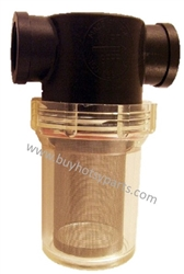 "1"" FPT Clear Bowl Inline Water Filter 40 Mesh Screen 8.709-996.0"