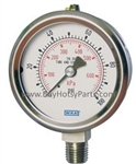 100 PSI Stainless Steel Bottom Mount Pressure Gauge 8.710-270.0