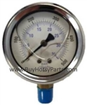 500 PSI Stainless Steel Bottom Mount Pressure Gauge 8.710-276.0