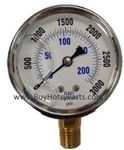 3000 PSI Stainless Steel Bottom Mount Pressure Gauge 8.710-281.0