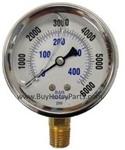 6000 PSI Stainless Steel Bottom Mount Pressure Gauge 8.710-286.0