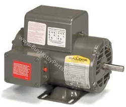 Baldor Electric Motor 5 HP 3450 RPM 200 Volt Single Phase ODP 8.715-144.0